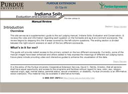 Indiana Soils: Evaluation and Conservation Manual Review