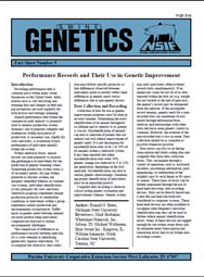Performance Records and Their Use in Genetic Improvement