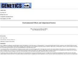 Environmental Effects and Adjustment Factors