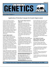 Application of Selection Concepts for Genetic Improvement