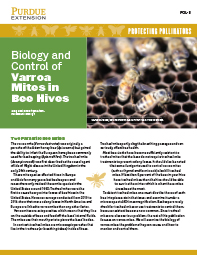 Protecting Pollinators: Biology and Control of Varroa Mites in Bee Hives