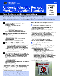 Understanding the Revised Worker Protection Standard - What Employers and Others Need to Know