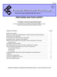 Pesticides and Food Safety