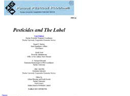 Pesticides and the Label