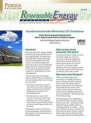 Considerations for Solar Photovoltaic (PV) Installations