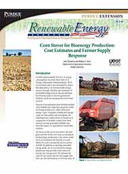 Corn Stover for Bioenergy Production: Cost Estimate and Farmer Supply Response