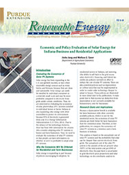 Economic and Policy Evaluation of Solar Energy for Indiana Business and Residential Applications