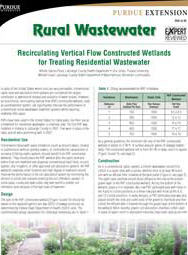 Recirculating Vertical Flow Constructed Wetlands for Treating Residential Wastewater