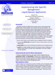Implementing Site-Specific Management: Liquid Manure Application