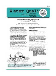 Plugging Abandoned Water Wells: A Landowner's Guide
