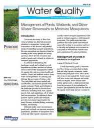 Management of Ponds, Wetlands, and Other Water Reservoirs to Minimize Mosquitoes