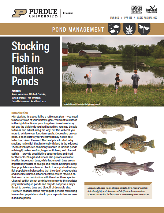 Pond Management: Stocking Fish in Indiana Ponds