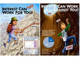 KidsEcon Posters: Interest Can Work For You or Against You Posters (set of 2)